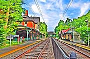 Philadelphia Prints - St. Martins Train Station Print by Bill Cannon