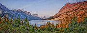 Montana Digital Art - St Mary Lake by Wade Aiken