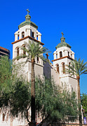 Phoenix Architecture Framed Prints - St. Marys Basilica - Downtown Phoenix Framed Print by Suzanne Gaff