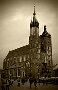 Old Krakow Framed Prints - St. Marys Basilica Framed Print by Kamil Swiatek