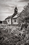 White Church Prints - St Marys Church Stainburn Yorkshire Print by Ian Barber