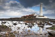 Overcast Day Prints - St. Marys Island, Northumberland Print by John Short