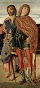 Martyr Photo Posters - St Matthew and St Sebastian Poster by Cristoforo Caselli