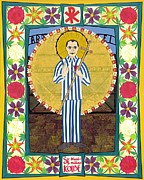 Icon  Mixed Media - St Maximilian Kolbe Icon by David Raber