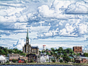 Chatham Digital Art Framed Prints - St Michaels Basilica Framed Print by Patricia L Davidson