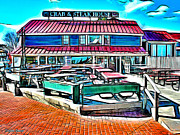 Docking Prints - St Michaels Crab and Steak House Print by Stephen Younts