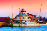 Boat Digital Art - St. Michaels Lighthouse by Bill Cannon