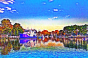 Marina Digital Art - St. Michaels Marina by Bill Cannon