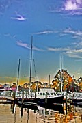 St. Michael Prints - St. Michaels Marina on the Chesapeake Print by Bill Cannon
