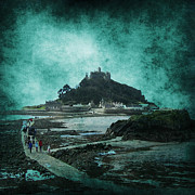Ominous Digital Art Framed Prints - St Michaels Mount Framed Print by Svetlana Sewell
