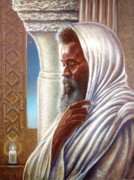 Religious Prints Drawings - St. Moses the Ethiopian in the Temple by Raymond Walker
