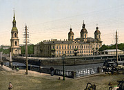Saint Petersburg Prints - St. Nicholas Naval Cathedral in St. Petersburg - Russia Print by International  Images