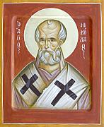 Icon Byzantine Painting Posters - St Nicholas of Myra Poster by Julia Bridget Hayes