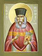 Julia Bridget Hayes Painting Metal Prints - St Nicholas Planas Metal Print by Julia Bridget Hayes