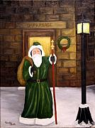 Santa Claus Paintings - St. Nicholas by Timothy Smith