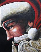 Santa Claus Paintings - St. Nick by Doug Norton