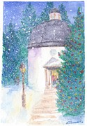 Silent Night Paintings - St. Nikolaus Church by Katherine Shemeld