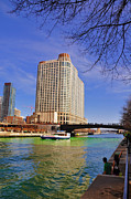 Water St Chicago Photos - St Patricks Day by Dejan Jovanovic