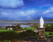 Woodland Scenes Posters - St Patricks Statue, Co Mayo, Ireland Poster by The Irish Image Collection