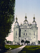 Kiev Framed Prints - St Paul and St Peter Cathedrals in Kiev - Ukraine - ca 1900 Framed Print by International  Images