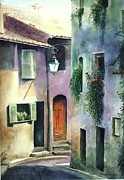 France Doors Painting Prints - St. Paul de Vence Print by Madeleine Holzberg