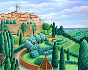 Hill Top Village Prints - St. Paul de Vence Print by Ronald Haber