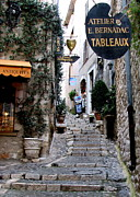 Provence Village Framed Prints - St. Paul de Vence Stairway Framed Print by Carla Parris