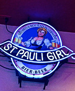 Bier Framed Prints - St Pauli Girl Framed Print by Bill Owen