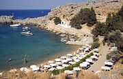 Greece Photos . Photos - St Pauls Bay Agios Pavlos Lindos Rhodes Greece by Ian Murray