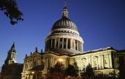 Religious Photography Posters - St Pauls Cathedral At Dusk, Exterior Poster by Axiom Photographic