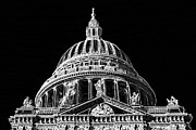 London England  Digital Art - St Pauls Cathedral by David Pyatt