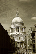 Old England Prints - St Pauls Cathedral of London Print by Stuart Perkins