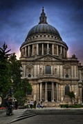 Sunset Framed Prints Framed Prints - St Pauls Cathedral Framed Print by Yhun Suarez