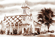 Clear Sky Mixed Media - St. Pauls Episcopal Church III by Kip DeVore