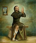 Catholic Paintings - St Peregrine by Cecilia  Brendel