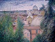Italian Landscapes Paintings - St Peter by Enver Larney