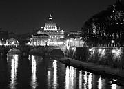 Italy Photos - St. Peters at Night by Donna Corless