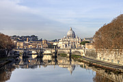 Tevere Prints - St. Peters Basilica Print by Joana Kruse
