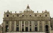 Vatican Framed Prints - St Peters Basilica. Framed Print by Terence Davis