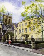 Student Paintings - St. Peters College Oxford by Mike Lester