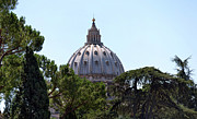 Vatican City Framed Prints - St Peters Dome. Framed Print by Terence Davis