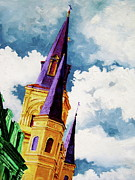 Church Painting Originals - St. Peters by Laura Pierre-Louis