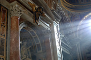 Michaelangelo Prints - St Peters Light Print by Bob Christopher
