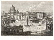 19th Century Architecture Prints - St. Peters Square Print by Granger