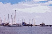 St. Petersburg Marina Print by Bill Cannon