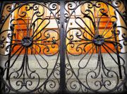 St Photos - St Philips Wrought Iron Gate by Melissa Wyatt