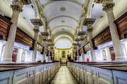 Christian Sacred Framed Prints - St. Phillip Pews Framed Print by Drew Castelhano
