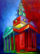 Charleston Painting Posters - St. Phillips Church Poster by James Christopher Hill