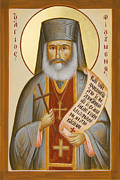 St Philoumenos Painting Posters - St Philoumenos of Jacobs Well Poster by Julia Bridget Hayes