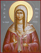 Samaritan Paintings - St Photini - The Samaritan Woman by Julia Bridget Hayes